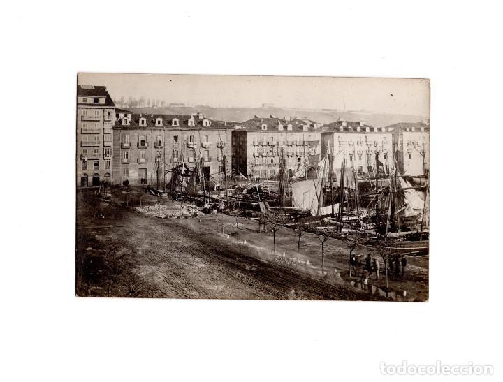 SANTANDER.(CANTABRIA).- MUELLE DE ANAOS 1873. DARSENA FRENTE ADUANA. DUOMARCO (Postales - España - Cantabria Antigua (hasta 1.939))