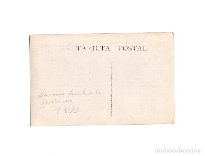 Postales: SANTANDER.(CANTABRIA).- MUELLE DE ANAOS 1873. DARSENA FRENTE ADUANA. DUOMARCO - Foto 2 - 155181518