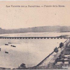 Postales: SAN VICENTE DE LA BARQUERA (CANTABRIA) - PUENTE DE LA MAZA. Lote 155184958