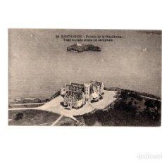 Postales: SANTANDER.(CANTABRIA).- PALACIO DE LA MAGDALENA. VISTA TOMADA DESDE UN AEROPLANO.. Lote 155185434
