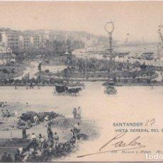 Postales: SANTANDER (CANTABRIA) - VISTA GENERAL DEL BOULEVARD. Lote 155253606