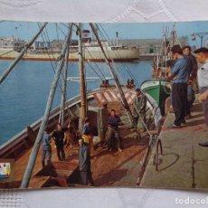 Postales: SANTANDER. MUELLE, PUERTO PESQUERO. F. DOMINGUEZ. CIRCULADA. . Lote 155831818