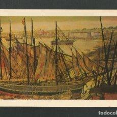 Postales: POSTAL SIN CIRCULAR - FERNANDO CALDERON - MURAL BAHIA DE SANTANDER - AYUNTAMIENTO - EDITA RAYCAR. Lote 155883010