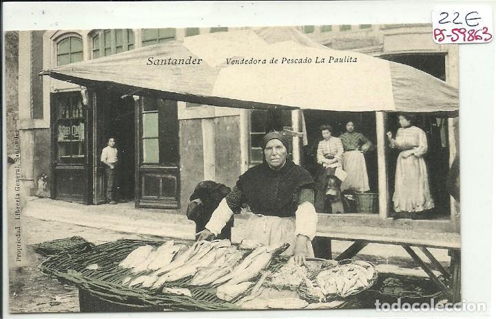 (PS-59863)POSTAL DE SANTANDER-VENDEDORA DE PESCADO LA PAULITA (Postales - España - Cantabria Antigua (hasta 1.939))