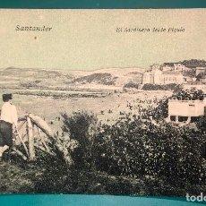 Postales: POSTAL SANTANDER EL SARDINERO VISTO DESDE PIQUÍO, PROPIEDAD LIBRERIA GENERAL,SANTANDER. Lote 156547258