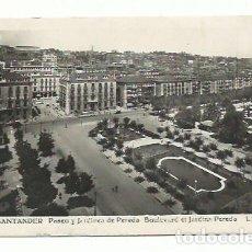 Postales: SANTANDER. JARDINES DE PEREDA. AÑOS 40/50. Lote 156863494
