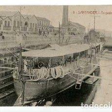 Cartes Postales: SANTANDER TORPEDERO EN EL DIQUE EDICION J. PALACIOS. SIN CIRCULAR. Lote 159400574