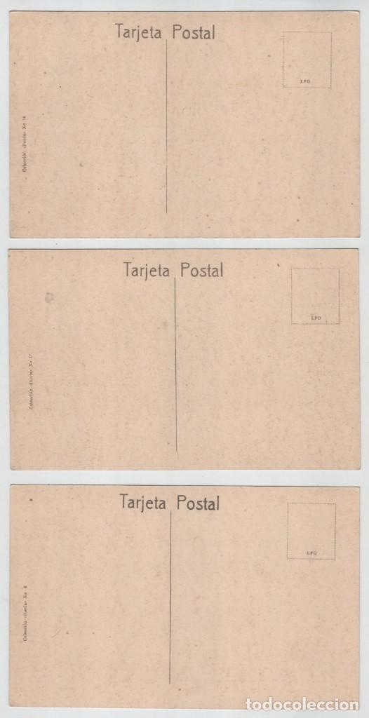 Postales: Lote 3 postales Reinosa Cantabria C Canalejas Fabrica Santa Clara Paseo S Francisco Colección Iberia - Foto 2 - 159656990