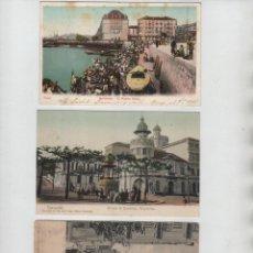 Postales: LOTE 3 POSTALES SANTANDER CANTABRIA BOMBEROS VOLUNTARIOS PUERTO CHICO TORRE SAN IGNACIO. Lote 159658050