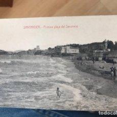 Postales: ANTIGUA POSTAL DE SANTANDER PRIMERA PLAYA DEL SARDINERO FOTPIA CASTAÑEIRA ALVAREZ. Lote 159729618