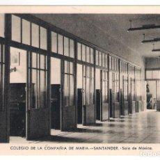 Postales: POSTAL DE SANTANDER: COLEGIO DE LA COMPAÑÍA DE MARÍA. SALA DE MUSICA. Lote 161590790