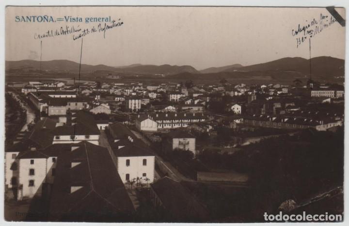 POSTAL SANTOÑA VISTA GENERAL PROPIEDAD DE GONZALEZ HNOS FGFOS (Postales - España - Cantabria Antigua (hasta 1.939))