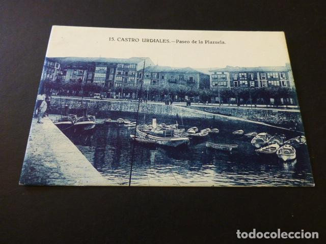 CASTRO URDIALES CANTABRIA PASEO DE LA PLAZUELA ED. SABINA GARAY Nº 15 SIN CIRCULAR (Postales - España - Cantabria Antigua (hasta 1.939))