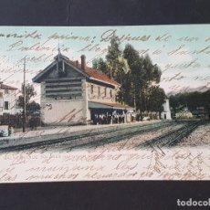 Postales: BALNEARIO DE SOLARES CANTABRIA ESTACION DEL FERROCARRIL. Lote 165656146