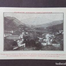 Postales: PUENTE VIESGO CANTABRIA VISTA. Lote 165656390