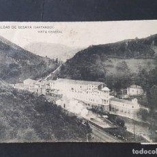 Postales: CALDAS DE BESAYA CANTABRIA VISTA GENERAL. Lote 165656938