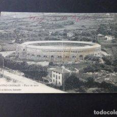Postales: CASTRO URDIALES CANTABRIA PLAZA DE TOROS LOS ITALIANOS CIRCULADA MATASELLOS AMB CASTRO URDIALES BILB. Lote 165944578