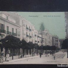 Postales: SANTANDER CALLE AMOS DE ESCALANTE. Lote 166132542