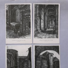 Postales: LOTE DE 4 POSTALES DE LA COLEGIATA DE SANTILLANA DEL MAR.. Lote 166385274