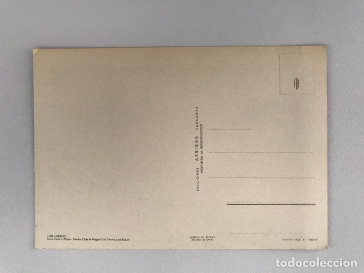 Postales: LAREDO (Cantabria) Postal No. 2008, Tenis, Club y Playa. Edita: Ed. Arribas (a.1962) CIRCULADA.. - Foto 2 - 166754625