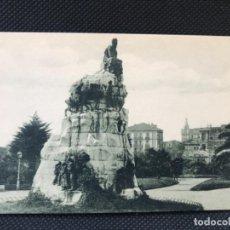 Postales: ANTIGUA POSTAL DE SANTANDER MONUMENTO DE PEREDA A .FUERTES BUEN ESTADO SIN CIRCULAR. Lote 166948880