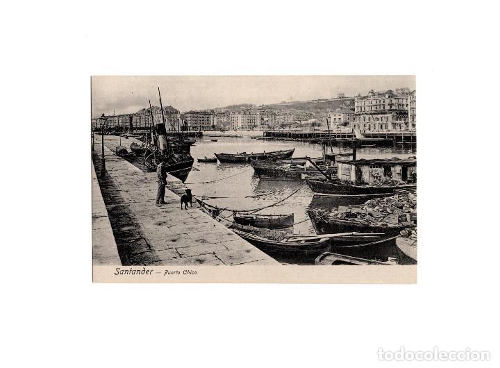 SANTANDER.(CANTABRIA).- PUERTO CHICO. (Postales - España - Cantabria Antigua (hasta 1.939))