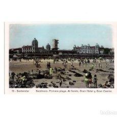 Postcards - SANTANDER.(CANTABRIA).- SARDINERO, PRIMERA PLAYA. AL FONDO, GRAN HOTEL Y GRAN CASINO. - 168433848