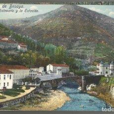 Postales: LOTE DE 2 POSTALES DE CALDAS DE BESAYA-EL BALNEARIO Y UN PARTIDO DE BOLOS-CASA FUERTES-VER FOTOS. Lote 168499444