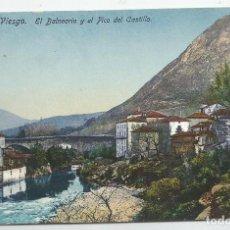 Postales: LOTE DE 2 POSTALES DE PUENTE VIESGO- EL BALNEARIO Y PICO DEL CASTILLO Y EL PUENTE-CASA FUERTES-. Lote 168502412