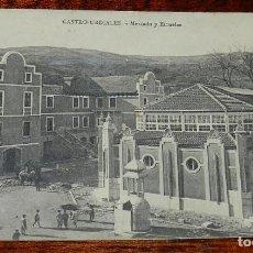 Postales: POSTAL DE CASTRO URDIALES, CANTABRIA, MERCADO Y ESCUELAS, NO CIRCULADA, SIN DIVIDIR, F. LOS ITALIANO. Lote 169235748