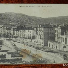 Postales: POSTAL DE CASTRO URDIALES, CANTABRIA, DETALLE DE LA DARSENA, NO CIRCULADA, SIN DIVIDIR, F. LOS ITALI. Lote 169235788