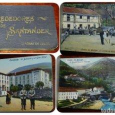 Postales: CUADERNILLO CON 18 POSTALES DE LOS ALREDEDORES DE SANTANDER ED. CASA FUERTES, UNA PASIEGA, PARTIDA D. Lote 169504696