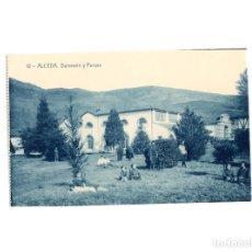 Postales: ALCEDA.(SANTANDER).- BALNEARIO Y PARQUE.. Lote 171410312