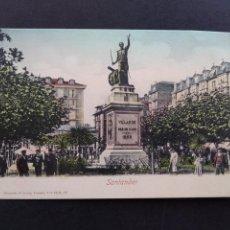 Postales: SANTANDER ESTATUA DE VELARDE ED. ROMMLER & JONAS. Lote 171770382