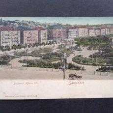 Postales: SANTANDER BOULEVARD ALFONSO XII ED. ROMMLER & JONAS. Lote 171770434