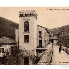 Postales: PUENTE VIESGO.(SANTANDER).- GRAN HOTEL .EDICIÓN EL GRAN HOTEL. FTO. LOS ITALIANOS SANTANDER COMPART. Lote 171917377