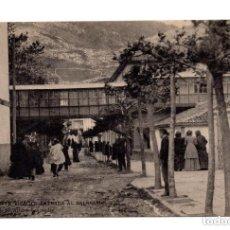 Postales: PUENTE VIESGO.- SANTANDER - ENTRADA AL BALNEARIO . LIBRERÍA DE M. ALBIRA, SANTANDER - HAUSER Y MENET. Lote 171917957