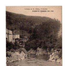 Postales: PUENTE VIESGO.- SANTANDER - RIO PAS . LIBRERÍA DE M. ALBIRA, SANTANDER - HAUSER Y MENET . Lote 171918289