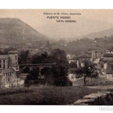 Postales: PUENTE VIESGO.- SANTANDER - VISTA GENERAL . LIBRERÍA DE M. ALBIRA, SANTANDER - HAUSER Y MENET . Lote 171918595