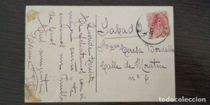 Postales: POSTAL DE SANTANDER. ESTATUA DE PEREDA. LIBRERIA DE M. ALBIRA. - Foto 2 - 174067838