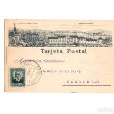 Postales: COBRECES. CANTABRIA.- MONASTERIO CISTERCIENSE VIA COELY Y FABRICA QUIROS LIT. RIO LUARCA. Lote 175968247