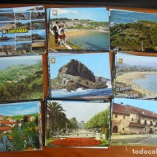 Postales: LOTE DE 91 POSTALES DE CANTABRIA AÑOS 60 Y 70 EN COLOR - ENVIO GRATIS -VER FOTOS. Lote 176424402