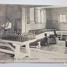 Postales: POSTAL ANTIGUA BALNEARIO DE SOLARES UN DETALLE DE LA SECCION DEL LLENADO. Lote 176505707
