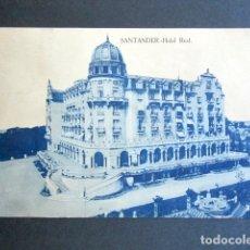 Postales: POSTAL SANTANDER. HOTEL REAL. . Lote 176820748