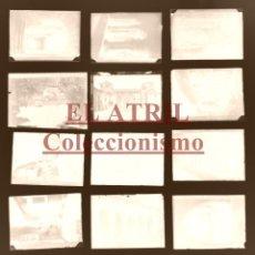 Postales: SANTILLANA DEL MAR - 12 CLICHES ORIGINALES - NEGATIVOS EN CRISTAL - EDICIONES ARRIBAS. Lote 177373148