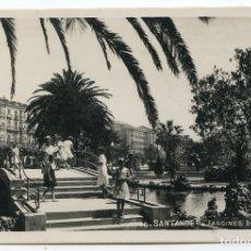 Postales: SANTANDER. 46. JARDINES DE PEREDA, POSTAL FOTOGRÁFICA SIN REFERENCIA DE EDITOR. Lote 177725073