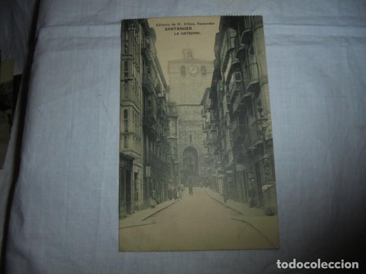 SANTANDER LA CATEDRAL.LIBRERIA DE M.ALBIRA (Postales - España - Cantabria Antigua (hasta 1.939))