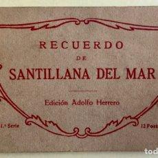 Postales: SANTILLANA DEL MAR- CANTABRIA- EDC. ADOLFO HERRERO- 1º SERIE- BLOC 12 POSTALES- ESCASA. Lote 178115875