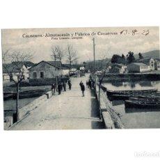 Postales: COLINDRES.(CANTABRIA).- ALMOTACENIA Y FABRICA DE CONSERVAS.. Lote 178388036
