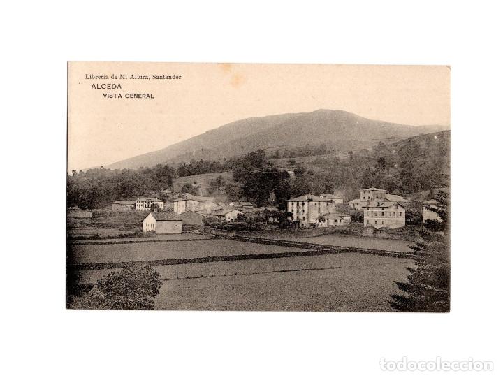 ALCEDA.(SANTANDER).- VISTA GENERAL. (Postales - España - Cantabria Antigua (hasta 1.939))